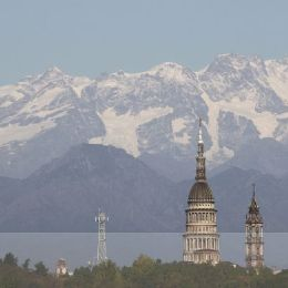 Novara and the Alps